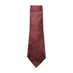 Tie HERMÈS Red, burgundy