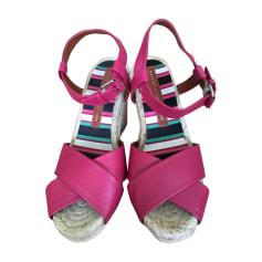 Sandales compensées MARC JACOBS Violet, mauve, lavande