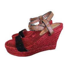 Sandales compensées MARC JACOBS Rouge, bordeaux