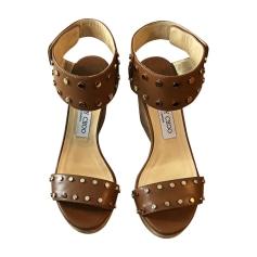 Sandales compensées JIMMY CHOO Beige, camel