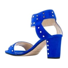 Sandales à talons JIMMY CHOO Bleu Cobalt