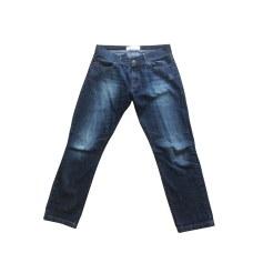 Jeans largo, boyfriend SESSUN Blu, blu navy, turchese