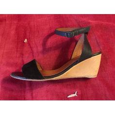 Sandales compensées ANTHOLOGY PARIS Noir