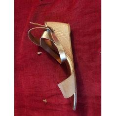 Sandales compensées ANTHOLOGY PARIS Argenté, acier