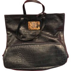 Leather Oversize Bag ROBERTO CAVALLI Blue, navy, turquoise