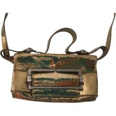 Borsa a tracolla in pelle GIVENCHY Dorato, bronzo, rame