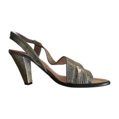 Sandales à talons MARC JACOBS Doré, bronze, cuivre