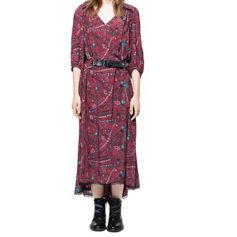 Robe longue ZADIG & VOLTAIRE Rouge, bordeaux