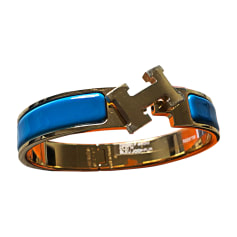Bracelet HERMÈS Clic H Bleu, bleu marine, bleu turquoise