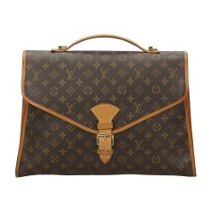 Lederhandtasche LOUIS VUITTON Brown