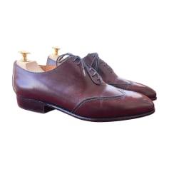 Chaussures à lacets J.M. WESTON Rouge, bordeaux