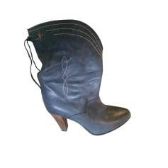 Santiags, bottines, low boots cowboy GOLDEN GOOSE Gris, anthracite