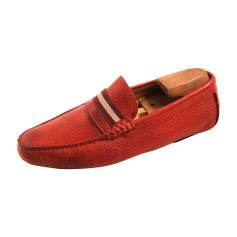 Loafers BALLY Red, burgundy