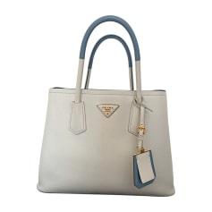 Lederhandtasche PRADA Weiß, elfenbeinfarben