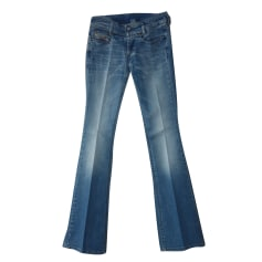 Pantalone svasato DIESEL Blu, blu navy, turchese