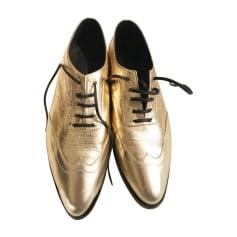 Chaussures à lacets  ANINE BING Doré, bronze, cuivre