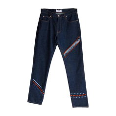 Jeans droit MSGM Bleu indigo