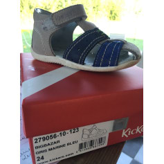 Sandals KICKERS Gray, charcoal