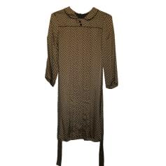 Robe courte CLAUDIE PIERLOT Doré, bronze, cuivre