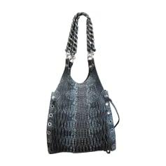 Leather Oversize Bag SONIA RYKIEL Gray, charcoal