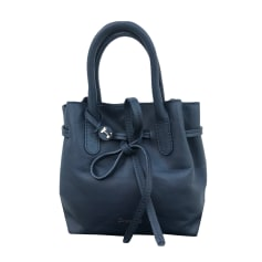 Leather Handbag REPETTO Blue, navy, turquoise