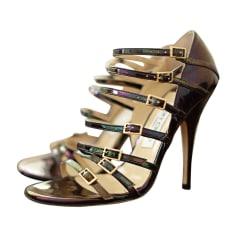 Sandales à talons JIMMY CHOO Violet, mauve, lavande