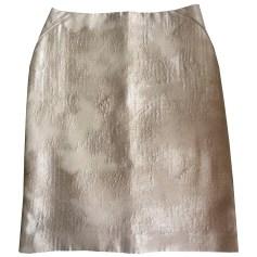 Jupe mi-longue TARA JARMON Doré, bronze, cuivre