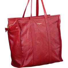 Sac XL en cuir BALENCIAGA Bazar Rouge, bordeaux