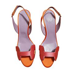 Heeled Sandals HERMÈS Pink, fuchsia, light pink