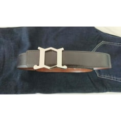 Cintura JOHN LOBB Réversible Noir ou Marron