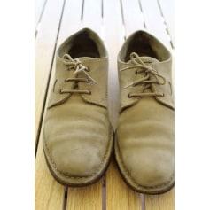 Lace Up Shoes LACOSTE Beige, camel