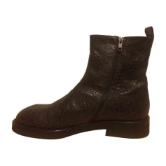 Bottines ANN DEMEULEMEESTER Marron