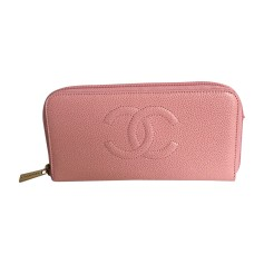 Portefeuille CHANEL Rose, fuschia, vieux rose