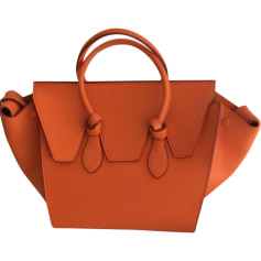 Sac à main en cuir CÉLINE Orange