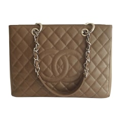 Leather Handbag CHANEL Shopping Brown