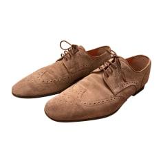 Chaussures à lacets SANTONI Beige, camel