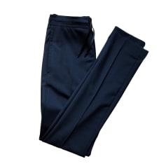 Pantalon slim SANDRO Bleu, bleu marine, bleu turquoise