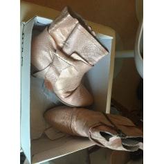 Bottines & low boots à talons MJUS Rose, fuschia, vieux rose
