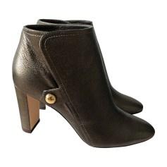 Bottines & low boots à talons JIMMY CHOO Doré, bronze, cuivre
