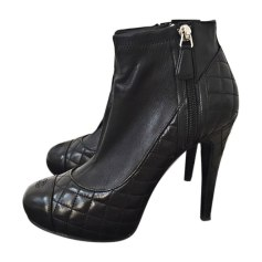High Heel Ankle Boots CHANEL Black