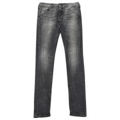 Jeans slim SAINT LAURENT Gris, anthracite