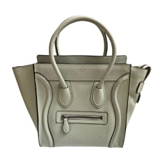 Sac à main en cuir CÉLINE Luggage Gris, anthracite