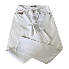 Jeans droit RALPH LAUREN Blanc, blanc cassé, écru