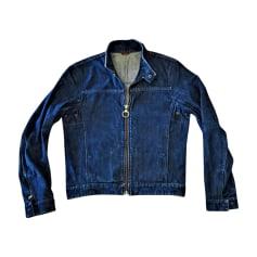 Blouson en jean PRADA Bleu, bleu marine, bleu turquoise