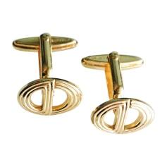 Boutons de manchette DIOR Doré, bronze, cuivre
