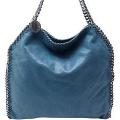 Sac à main en tissu STELLA MCCARTNEY Falabella Bleu, bleu marine, bleu turquoise