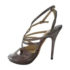 Sandales à talons JIMMY CHOO Argenté, acier