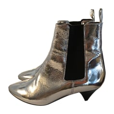 Bottines & low boots à talons ISABEL MARANT Argenté, acier