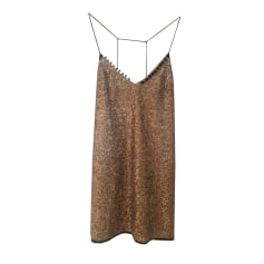 Mini Dress ZADIG & VOLTAIRE sequins paillettes grises