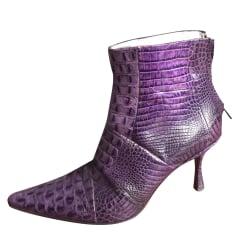 Bottines & low boots à talons FREE LANCE Violet, mauve, lavande